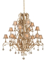 Picture for category Vaxcel EP-CHS016PP Empire Chandeliers 56in Steel 16-light