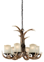 Picture for category Vaxcel H0016 Yoho Chandeliers 25in Black Walnut Poly Resin 6-light