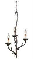 Picture for category Vaxcel H0074 Monterey Mini Chandeliers 16in Autumn Patina Steel 3-light