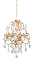 Picture for category Vaxcel NC-CHU004GW Newcastle Mini Chandeliers 13in Gilded White Gold Steel