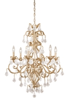 Picture for category Vaxcel NC-CHU006GW Newcastle Chandeliers 27in Gilded White Gold Steel 6-light