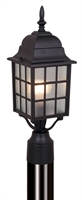 Picture for category Vaxcel OP36765TB Vista Outdoor Post Light 6in Textured Black Aluminum 1-light