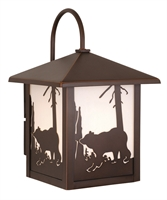 Picture for category Vaxcel OW35083BBZ Bozeman Wall Lantern 8in Burnished Bronze Steel 1-light