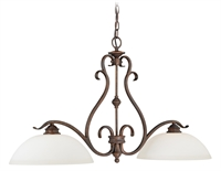 Picture for category Vaxcel P0148 Hartford Chandeliers 37in Weathered Patina Steel 2-light