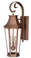 Picture for category Vaxcel T0120 Preston Wall Lantern 10in Brushed Copper Steel 3-light