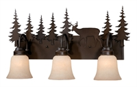 Picture for category Vaxcel VL55403BBZ Bryce Bath Lighting 25in Burnished Bronze Steel 3-light