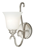 Picture for category Vaxcel W0160 Hartford Bath Lighting 6in Satin Nickel Steel 1-light