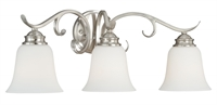 Picture for category Vaxcel W0162 Hartford Bath Lighting 24in Satin Nickel Steel 3-light