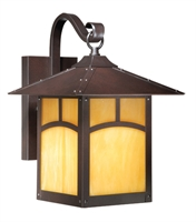 Picture for category Vaxcel TL-OWD090EB Mission Ii Wall Lantern 9in Espresso Bronze Steel 1-light