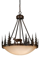 Picture for category Vaxcel PD55424BBZ Bryce Pendants 24in Burnished Bronze Steel 4-light