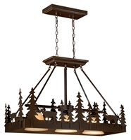 Picture for category Vaxcel PD55436BBZ Bryce Chandeliers 36in Burnished Bronze Steel 3-light