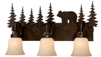 Picture for category Vaxcel VL55703BBZ Bozeman Wall Lantern 25in Burnished Bronze Steel 3-light