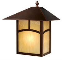 Picture for category Vaxcel OW37213BBZ Mission Ii Wall Lantern 11in Burnished Bronze Steel 1-light