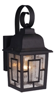 Picture for category Vaxcel OW37563TB Vista Wall Lantern 6in Textured Black Aluminum 1-light