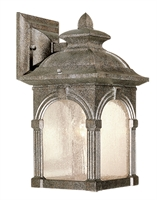 Picture for category Vaxcel OW38773LS Essex Wall Lantern 7in Lava Stone Aluminum 1-light