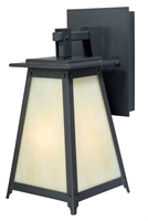Picture for category Vaxcel T0020 Prairieview Wall Lantern 8in Dark Bronze Steel 1-light