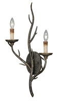 Picture for category Vaxcel W0075 Monterey Wall Lantern 13in Autumn Patina Steel 2-light