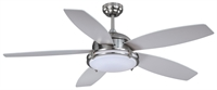 Picture for category Vaxcel F0039 Tali Led Ceiling Fans 52in Satin Nickel Steel 1-light
