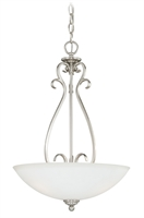 Picture for category Vaxcel P0151 Hartford Pendants 16in Satin Nickel Steel 3-light