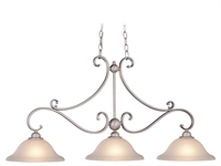 Picture for category Vaxcel PD35413BN Monrovia Chandeliers 11in Brushed Nickel Steel 3-light