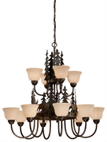 Picture for category Vaxcel CH55412BBZ Bryce Chandeliers 39in Steel 12-light