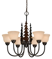 Picture for category Vaxcel CH55456BBZ Bryce Chandeliers 28in Burnished Bronze Steel 6-light