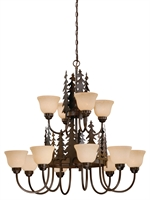 Picture for category Vaxcel CH55512BBZ Yosemite Chandeliers 39in Steel 12-light