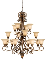 Picture for category Vaxcel BE-CHU016AW Berkeley Chandeliers 49in Steel 16-light