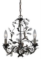 Picture for category Vaxcel H0149 Trellis Mini Chandeliers 14in Architectural Bronze Steel 3-light