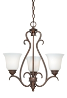 Picture for category Vaxcel H0156 Hartford Mini Chandeliers 20in Weathered Patina Steel 3-light