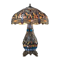 Picture for category Dimond 72079-3 Dragonfly Table Lamps 18in Tiffany Bronze Glass Metal 2-light
