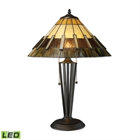 Picture for category Dimond D1860-LED Porterdale Table Lamps 16in Tiffany Bronze Metal Glass 2-light