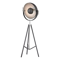 Picture for category Dimond D2464 Backstage Floor Lamps 23in Matte Black Polished Nickel Metal