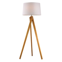 Picture for category Dimond D2469 Wooden Tripod Floor Lamps 19in Wood Tone Wood 1-light