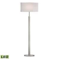 Picture for category Dimond D2550-LED Port Elizabeth Floor Lamps 19in Satin Nickel Metal 1-light