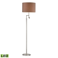 Picture for category Dimond D2552-LED Beaufort Floor Lamps 19in Satin Nickel Metal 1-light