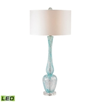 Picture for category Dimond D2662-LED Swirl Glass Table Lamps 18in Light Blue Swirl Glass 1-light