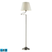 Picture for category Dimond 17047/1-LED Elysburg Floor Lamps 14in Satin Nickel Metal 1-light