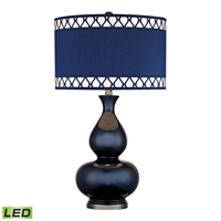 Picture for category Dimond D2516-LED Heathfield Table Lamps 16in Navy Blue Black Nickel 1-light
