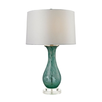 Picture for category Dimond D2727 Swirl Glass Table Lamps 16in Aqua Swirl Glass Acrylic 1-light