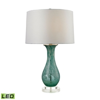 Picture for category Dimond D2727-LED Swirl Glass Table Lamps 16in Aqua Swirl Glass Acrylic 1-light