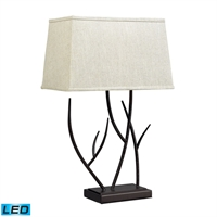 Picture for category Dimond D2209-LED Winter harbour Table Lamps 16in Bronze Steel 1-light