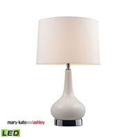 Picture for category Dimond 3925/1-LED Continuum Table Lamps 11in White Chrome Ceramic 1-light