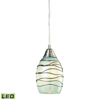 Picture for category Elk 31348/1MN-LED Vines Pendants 5in Metal Glass 1-light