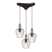 Picture for category Elk 60066-3 Menlow park Chandeliers 10in 3-light