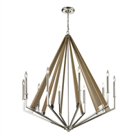 Picture for category Elk 31476/10 Madera Chandeliers 45in Wood Metal 10-light