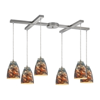 Picture for category Elk 10460/6CS Abstractions Pendants 33in Metal Glass 6-light