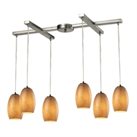 Picture for category Elk 10330/6TB Andover Pendants 33in Metal Glass 6-light