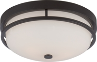 Picture for category Nuvo 60/5586 Nevel Ceiling Medallion Lighting 13in Sudbury Bronze Satin White