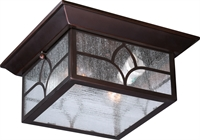 Picture for category Nuvo 60/5646 Stanton Outdoor Lighting Lamps 11in Claret Bronze Clear Seed